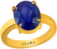 Clara Blue Sapphire Neelam 3.9 carat or 4.25ratti Panchdhatu Silver Sapphire Yellow Gold Ring best price on Flipkart @ Rs. 3530
