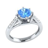 Demira Jewels Dazzling White Gold Topaz, Diamond 14K White Gold Ring best price on Flipkart @ Rs. 17769