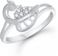 VK Jewels The Mayur Alloy Cubic Zirconia Rhodium Plated Ring