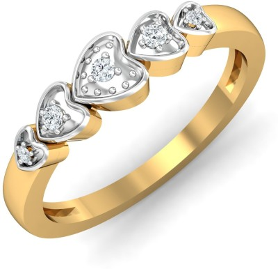 P.N.Gadgil Jewellers Expression 18kt Diamond Yellow Gold ring(Yellow Gold Plated) at flipkart