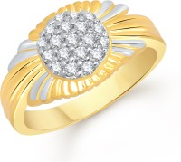 VK Jewels Emperor Alloy Cubic Zirconia Yellow Gold Plated Ring