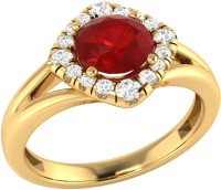 Demira Jewels Alluring Yellow Gold Ruby, Diamond 14K Yellow Gold Ring best price on Flipkart @ Rs. 16671