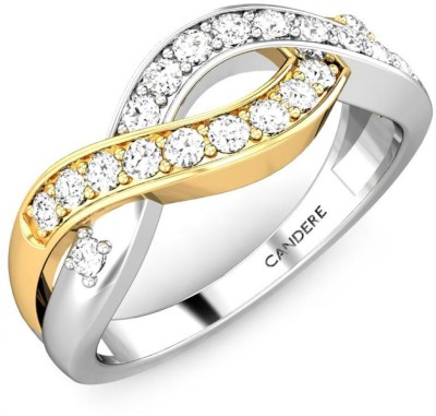 Candere Aakanksha 14kt Diamond White Gold ring