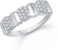 VK Jewels Band of Grace Alloy Cubic Zirconia Rhodium Plated Ring