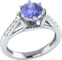 Demira Jewels Dazzling White Gold Tanzanite, Diamond 14K White Gold Ring best price on Flipkart @ Rs. 17769