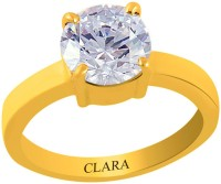 Clara Zircon 3.9 carat or 4.25ratti Panchdhatu Silver Cubic Zirconia Yellow Gold Ring best price on Flipkart @ Rs. 1340