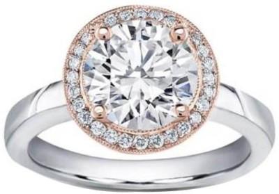 FORTUNE JEWEL Silver Diamond 18K White Gold Ring