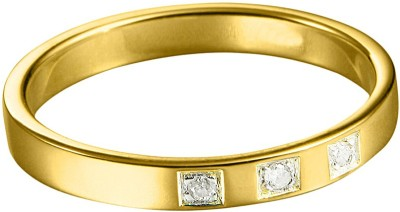 Voylla Precious Classic Textured Sterling Silver Diamond Rhodium Plated Ring at flipkart