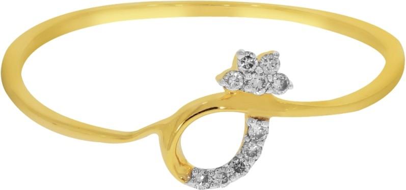 Kalyan Jewellers Less Weight Gold Diamond 18K Yellow Gold 18 K Ring