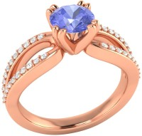 Demira Jewels Solitaire Rose Gold Tanzanite, Diamond 14K Rose Gold Ring best price on Flipkart @ Rs. 18993