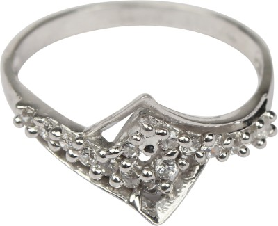 Chander Bhan Jewellers Sterling Silver Cubic Zirconia Sterling Silver Ring