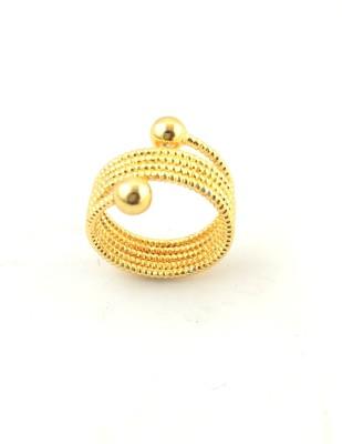 Italian Fashion lovely band Brass 21K Yellow Gold Ring
