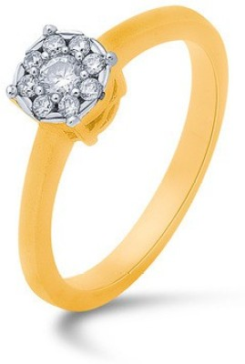 VelvetCase Diamond Casual Rings in 4.19gm 18 KT gold Gold Ring at flipkart