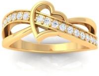 Sheetal Diamonds Metal Diamond 14K Yellow Gold Ring best price on Flipkart @ Rs. 18820