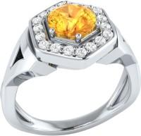 Demira Jewels Cluster Style White Gold Citrine, Diamond 14K White Gold Ring best price on Flipkart @ Rs. 18900