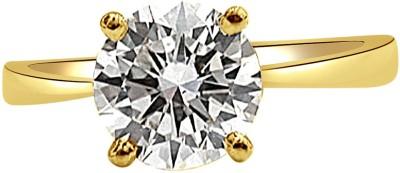 Surat Diamond 0.12ct Round M/I3 Engagement Delight Yellow Gold Diamond Yellow Gold Ring at flipkart
