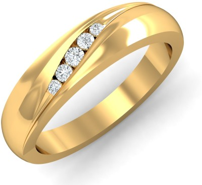 P.N.Gadgil Jewellers Precious Five Stone 18kt Diamond Yellow Gold ring(Yellow Gold Plated) at flipkart