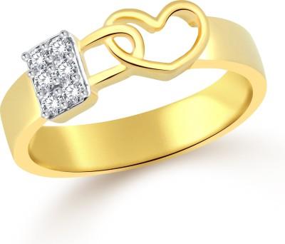 Classic Lock in Heart for Men [CJ5037FRG24] Alloy Cubic Zirconia Yellow Gold Ring