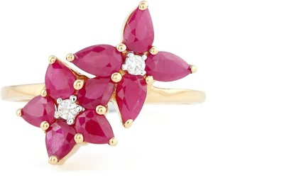 Paliwal Jewelers The Springtide 18kt Ruby, Diamond Yellow Gold ring