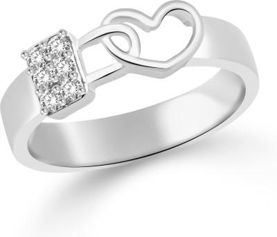 Classic Lock in Heart for Men [CJ5052FRR22] Alloy Cubic Zirconia White Gold Ring
