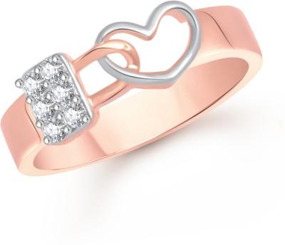 VK Jewels Love Lock Valentine Alloy Cubic Zirconia 18K Rose Gold Ring