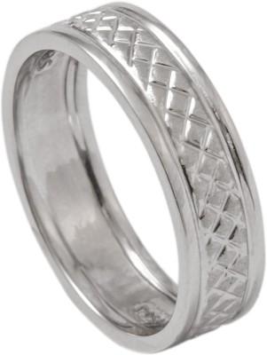 Suranas Jewelove Designer Square Texture Platinum Ring