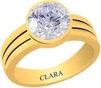 Clara Zircon 6.5 carat or 7.25ratti Panchdhatu Silver Cubic Zirconia Yellow Gold Ring best price on Flipkart @ Rs. 1740