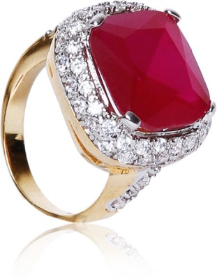 Sparkle Street Metal, Stone Ring at flipkart