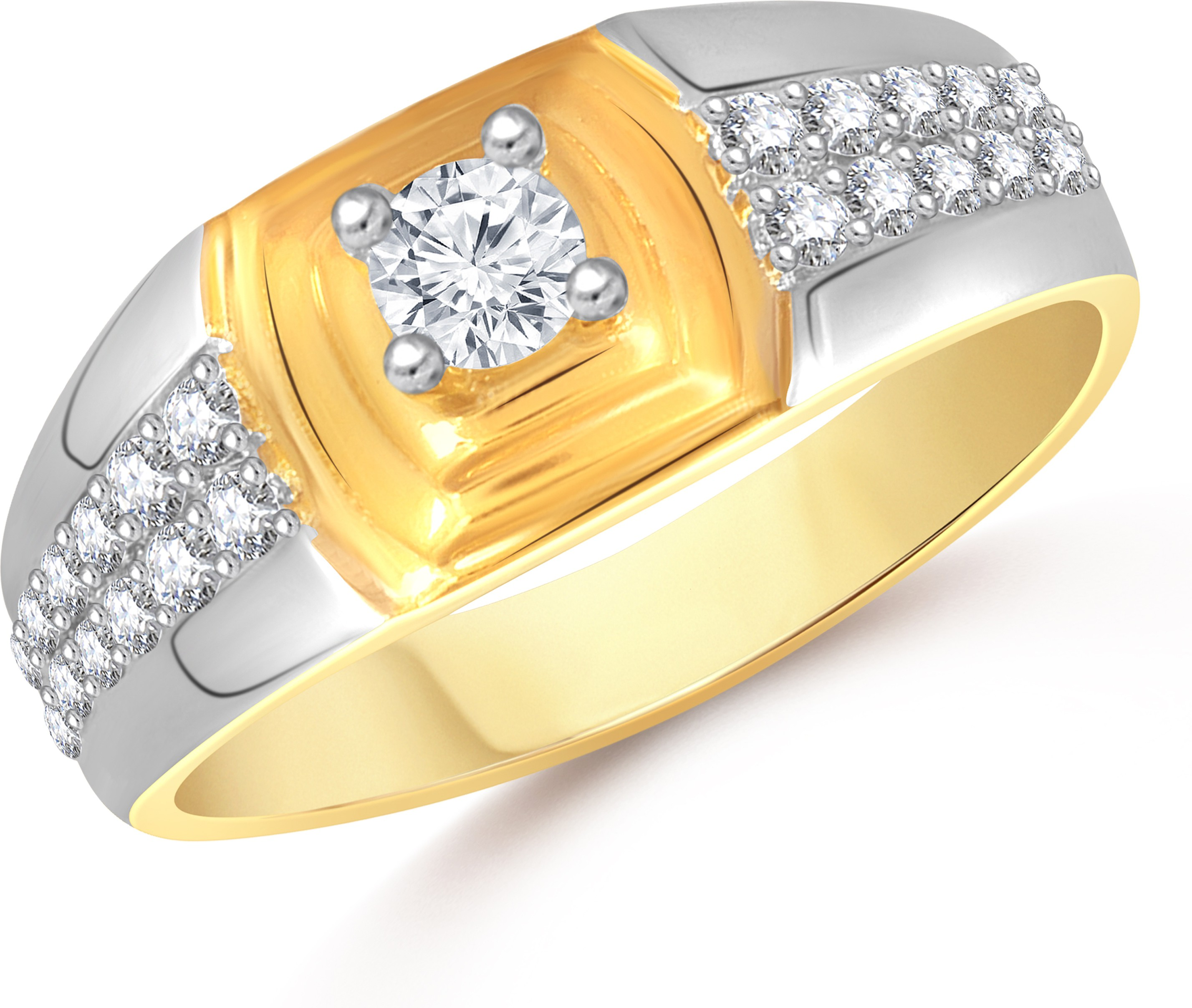bed5e226e VK Jewels Dual Tone Alloy Cubic Zirconia 18K Yellow Gold Ring was ₹349 now ₹