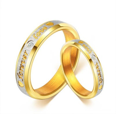 Yellow Chimes Stainless Steel Rhodium Ring Set at flipkart