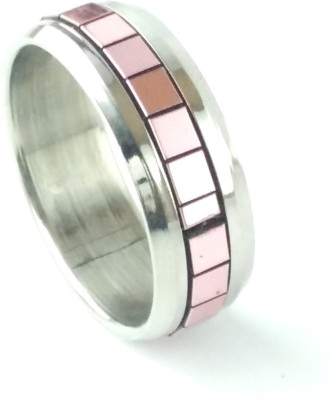 Italian Fashion Pink Lips Stainless Steel Ring