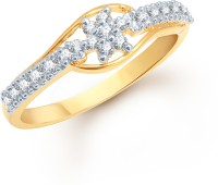 VK Jewels Alloy Yellow Gold Plated Ring