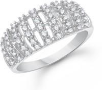 VK Jewels Glitter Alloy Cubic Zirconia Rhodium Plated Ring