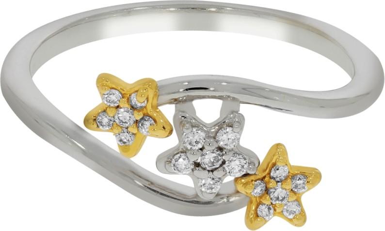 Kalyan Jewellers Light Weight Gold Diamond 18 K Ring