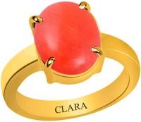 Clara Coral Moonga 3.9 carat or 4.25ratti Panchdhatu Silver Coral Yellow Gold Ring best price on Flipkart @ Rs. 2210