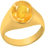 Akshay Gems Pukhraj 4.8 carat or 5.25ratti Silver Sapphire 22K Yellow Gold Ring best price on Flipkart @ Rs. 2999