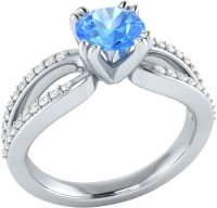 Demira Jewels Solitaire White Gold Topaz, Diamond 14K White Gold Ring best price on Flipkart @ Rs. 18993