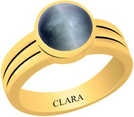 Clara Cat's eye Lehsuniya 5.5 carat or 6.25ratti Panchdhatu Silver Cat's Eye Yellow Gold Ring