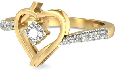 WearYourShine by PC Jewellers The Krisias Diamond 18kt Diamond Yellow Gold ring(Yellow Gold Plated) at flipkart