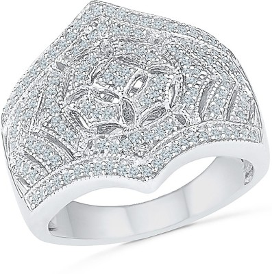 Radiant Bay Royal Night out Sterling Silver Diamond Ring at flipkart