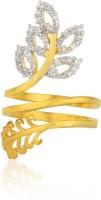 Moda Stella American Diamond 24 Karat Gold Plated Diamond Looking Spiral Ladies Ring Brass 24K Yellow Gold, Rhodium Ring best price on Flipkart @ Rs. 149