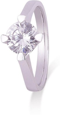 Adwitiya Collection Rolling Starlight Sterling Silver Cubic Zirconia Sterling Silver Plated Ring at flipkart