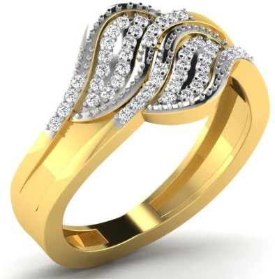 His & Her 18kt Diamond Yellow Gold ring at flipkart