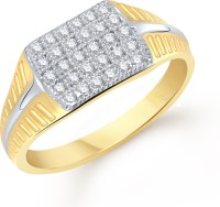 VK Jewels Decent Alloy Cubic Zirconia Yellow Gold Plated Ring