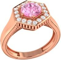 Demira Jewels Sparkling Bead Rose Gold Sapphire, Diamond 14K Rose Gold Ring best price on Flipkart @ Rs. 21041