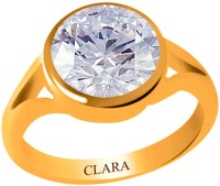 Clara Zircon 6.5 carat or 7.25ratti Panchdhatu Silver Cubic Zirconia Yellow Gold Ring best price on Flipkart @ Rs. 1630
