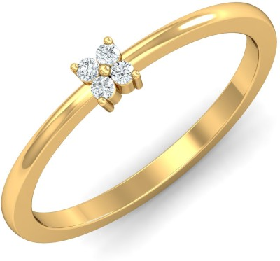 P.N.Gadgil Jewellers Simple White 18kt Diamond Yellow Gold ring(Yellow Gold Plated) at flipkart