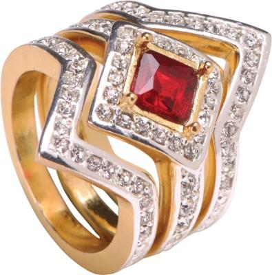 Sparkle Street Crimson Kite Alloy, Stone Ring