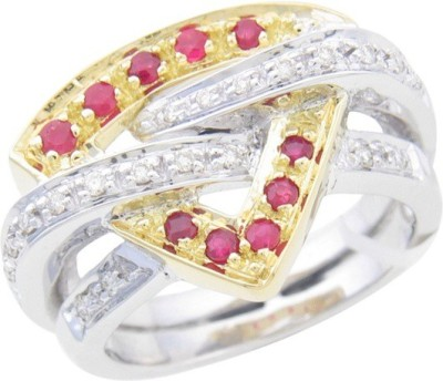 Fullcutdiamond FCDR3927R 18kt Diamond White Gold ring(White Gold Plated) at flipkart