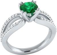 Demira Jewels Solitaire White Gold Emerald, Diamond 14K White Gold Ring best price on Flipkart @ Rs. 18993